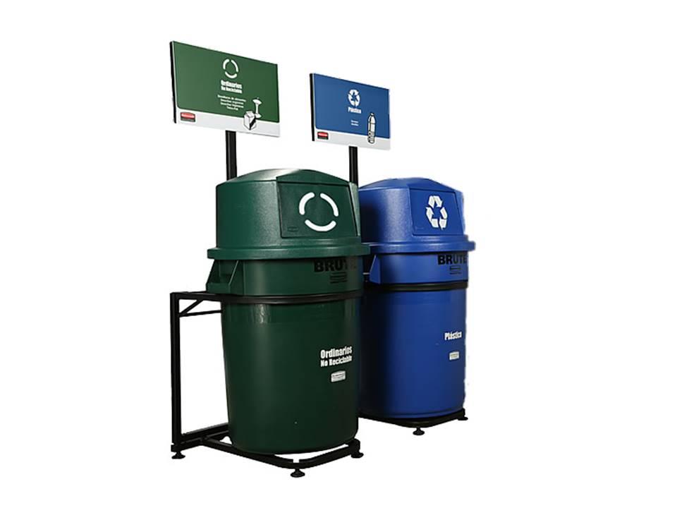 Punto ecológico con dos contenedores BRUTE 121 LTS