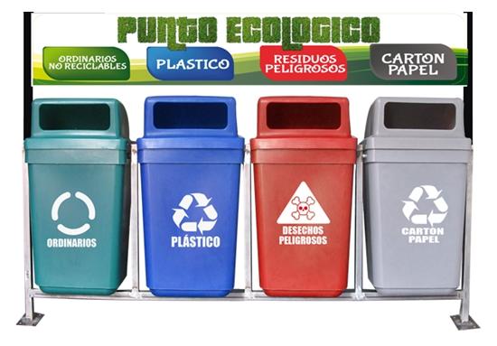 Cuarteto reciclaje con soporte