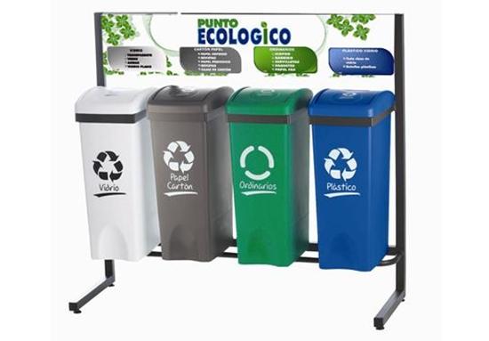 Canecas De Reciclaje Por Colores Cjs Canecas
